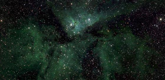 Uma das partes da macrofotografia da Via Láctea.
