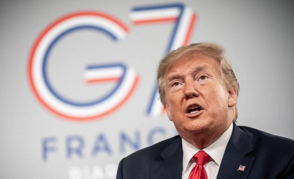 Donald Trump, nesta segunda-feira na cúpula do G7 em Biarritz (França).