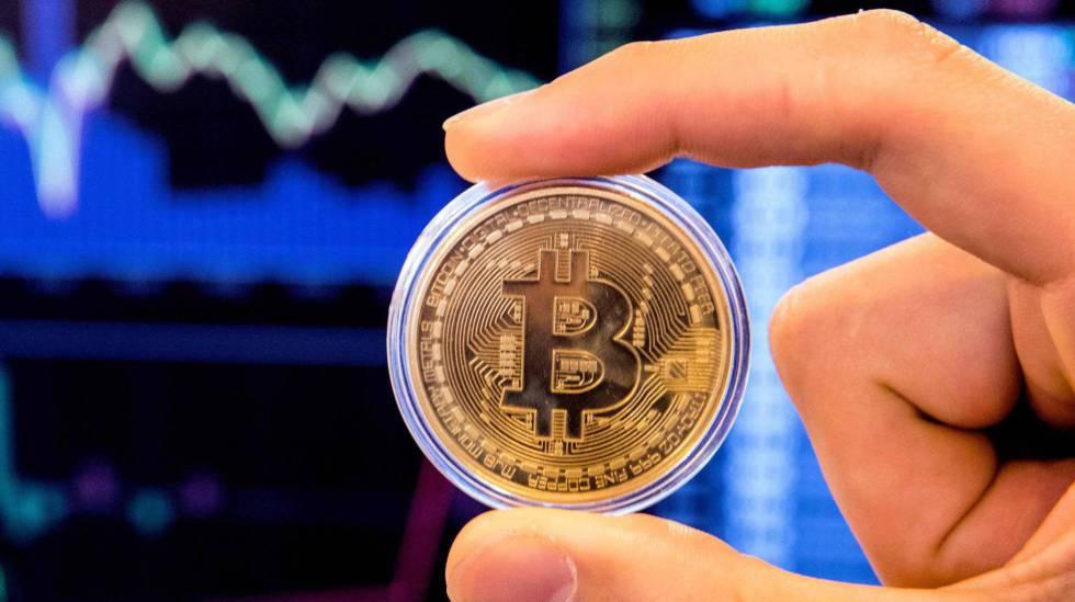 Representação da criptomoeda bitcoin.