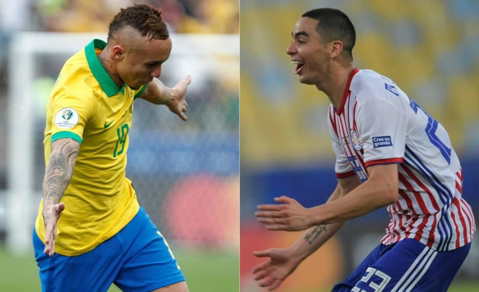 Everton e Miguel Almirón são destaques de Brasil e Paraguai nesta Copa América.