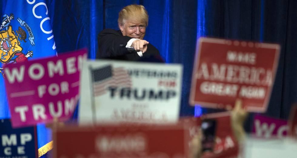 """Trump em Wisconsin, no """"cinturão do ferrugem"""""""