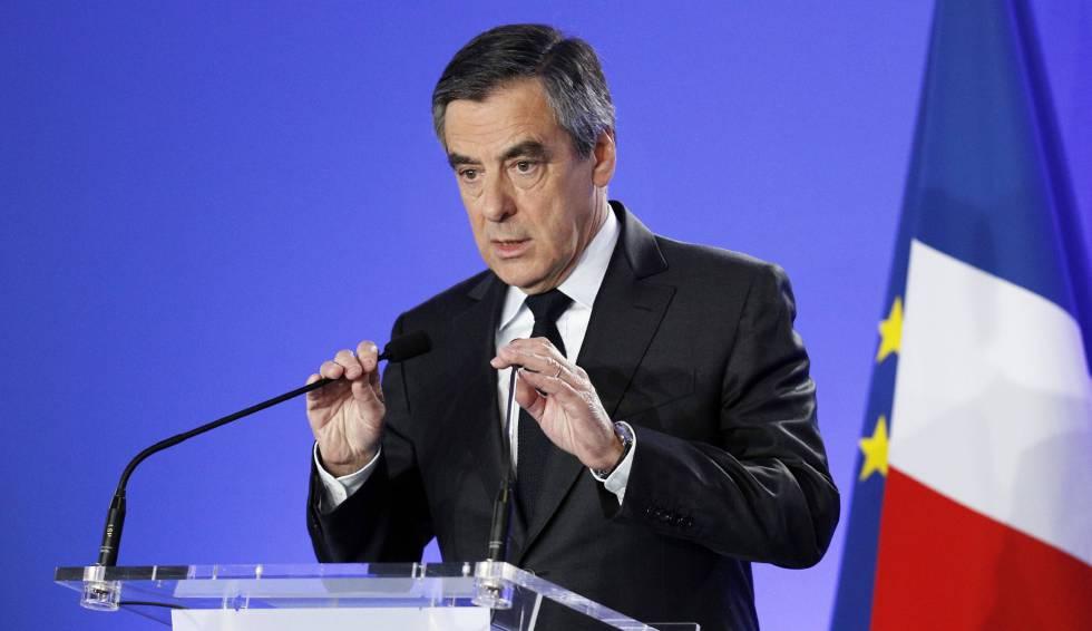 O candidato conservador François Fillon.