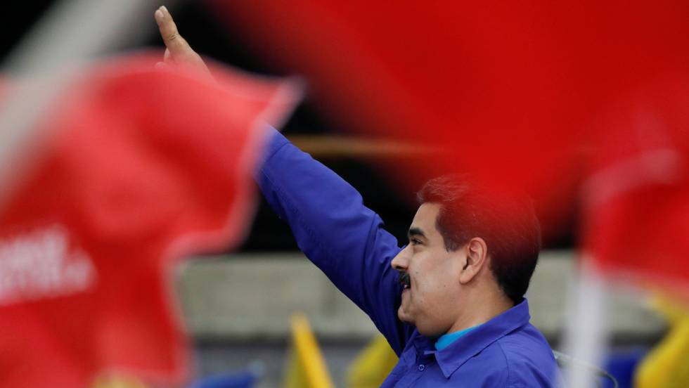 Nicolás Maduro em um evento com simpatizantes em Caracas
