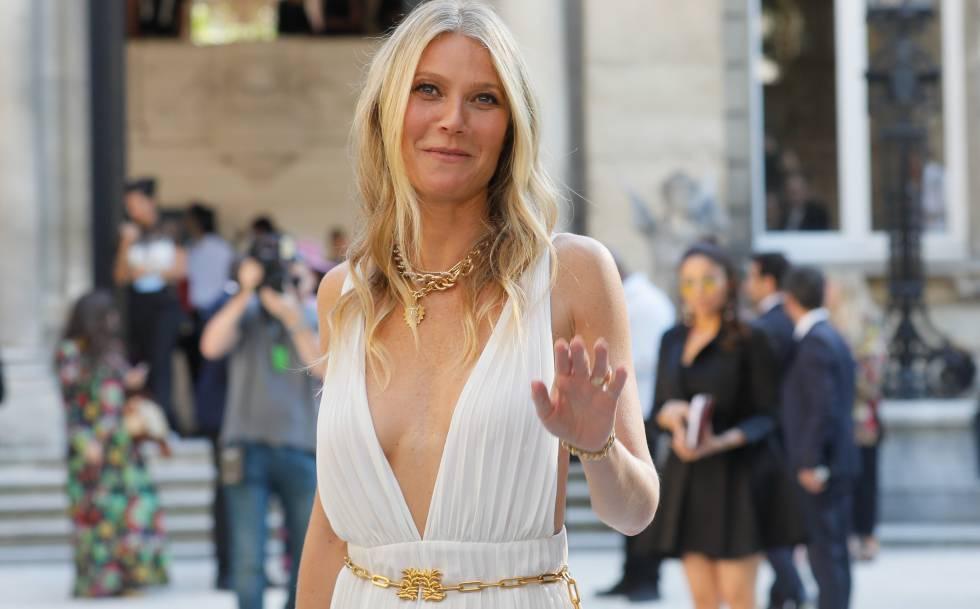 A atriz Gwyneth Paltrow, em Paris.
