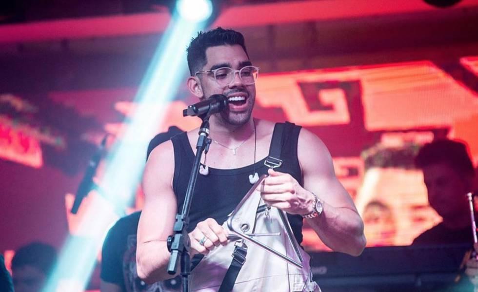 Gabriel Diniz em seu último show, em Feira de Santana.