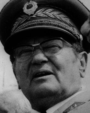 O presidente da Iugoslávia Josip Broz Tito.