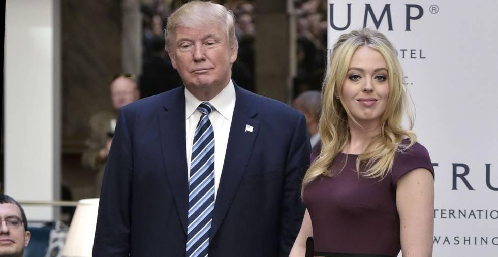 Donald e Tiffany Trump, em 26 de outubro, em Washington.