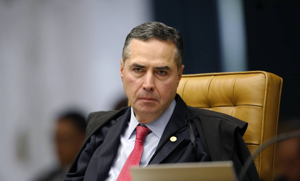 Ministro Roberto Barroso na sessão plenária de 1º de fevereiro de 2018.