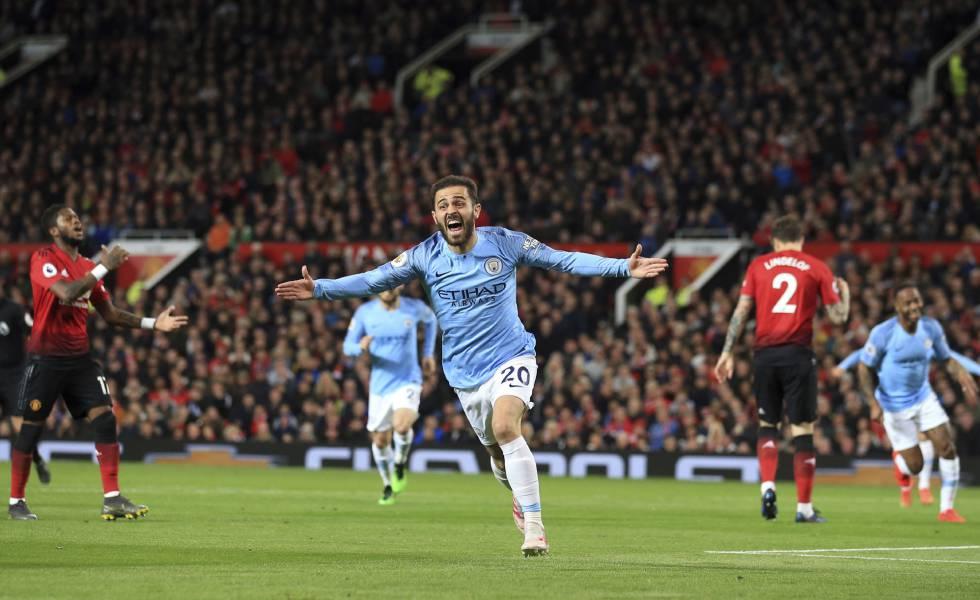 Bernardo Silva marcou o primeiro gol da vitória do Manchester City.