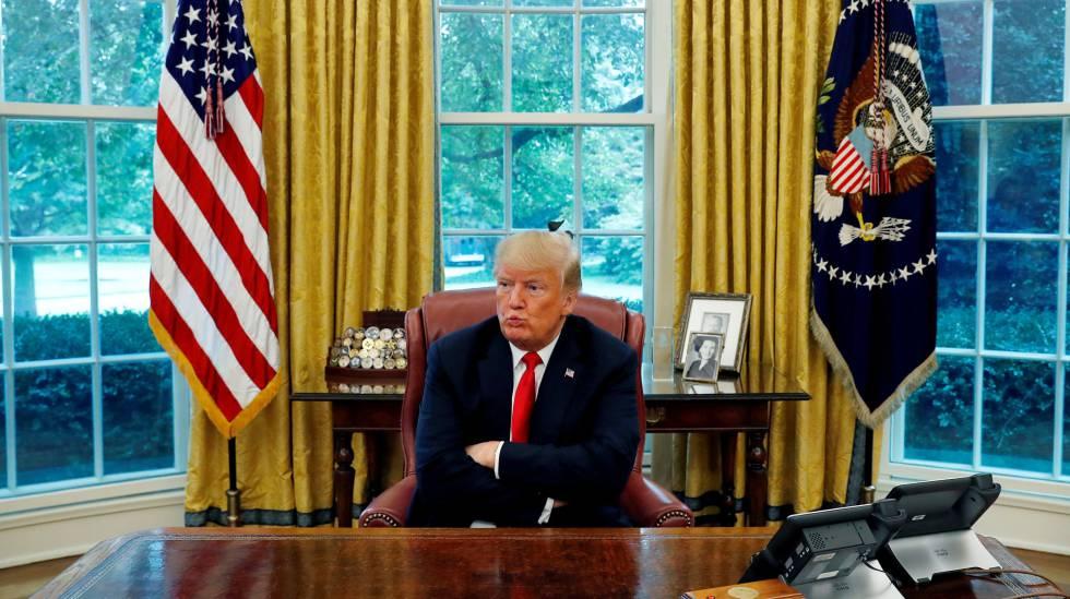 Donald Trump, na última segunda-feira, na Casa Branca.