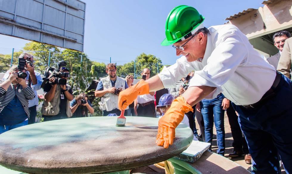 Alckmin, em São José do Rio Preto (SP), em julho.