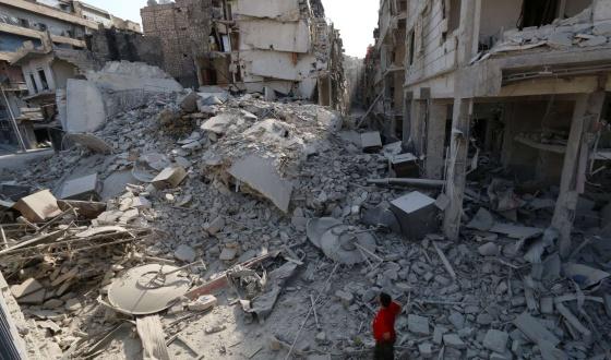 Alepo, no norte do país, em 27 de agosto.
