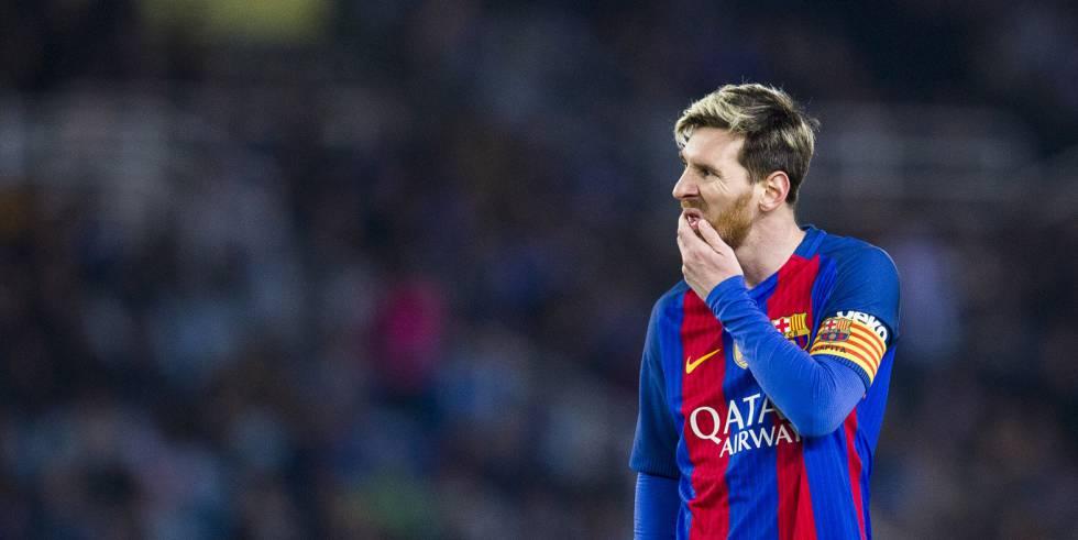 Messi, durante jogo contra a Real Sociedad.