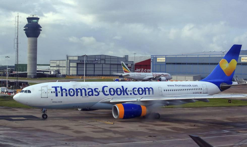 Um avião de Thomas Cook, o passado agosto no aeroporto de Mánchester.