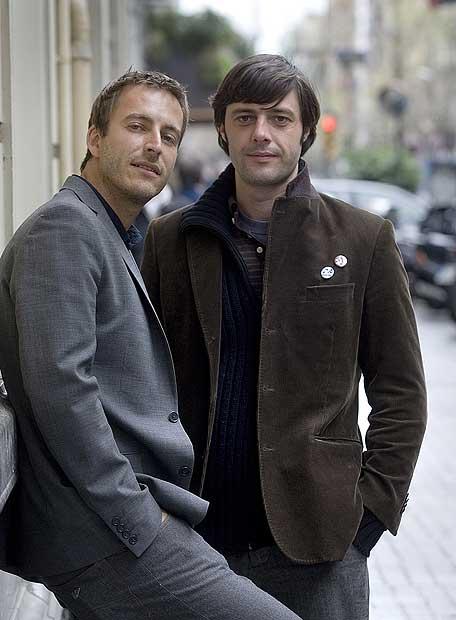 Javier Montes, a la izquierda, y Andrés Barba.