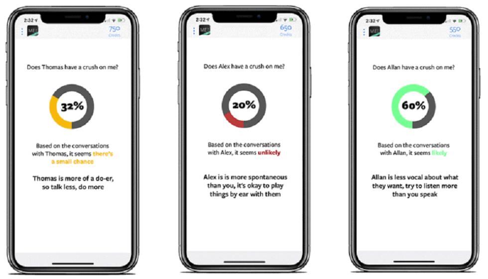 Resultados da aplicação Mei sobre conversas com usuários do WhatsApp.