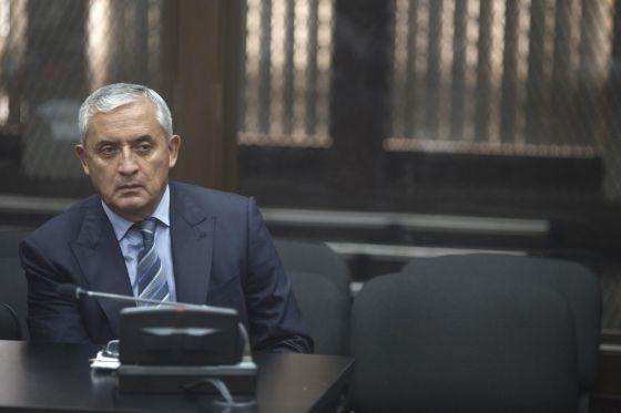 Otto Pérez Molina, durante a audiência desta sexta-feira.