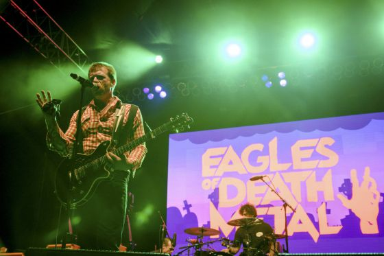 Jesse Hughes, da banda Eagles of Death Metal.