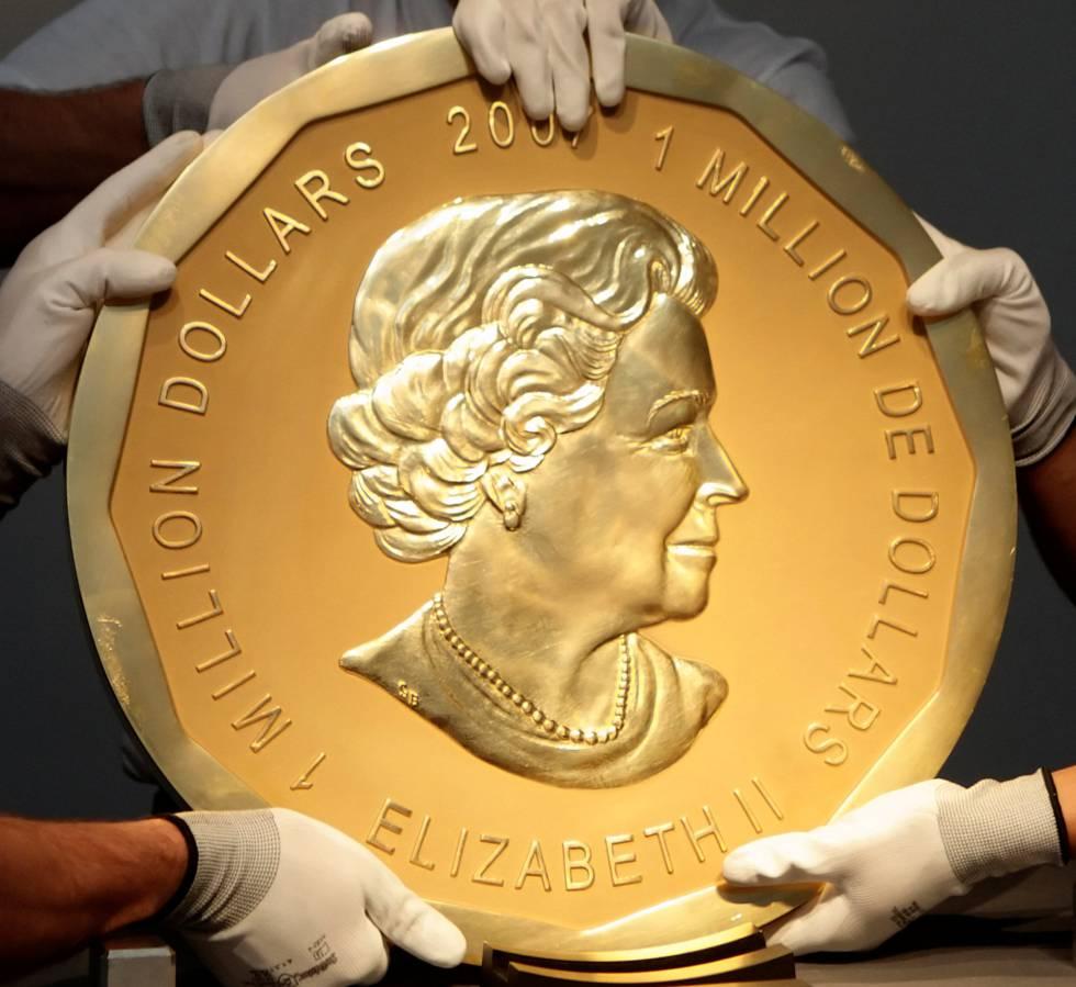A moeda de ouro de um milhão de dólares canadenses em 2010.