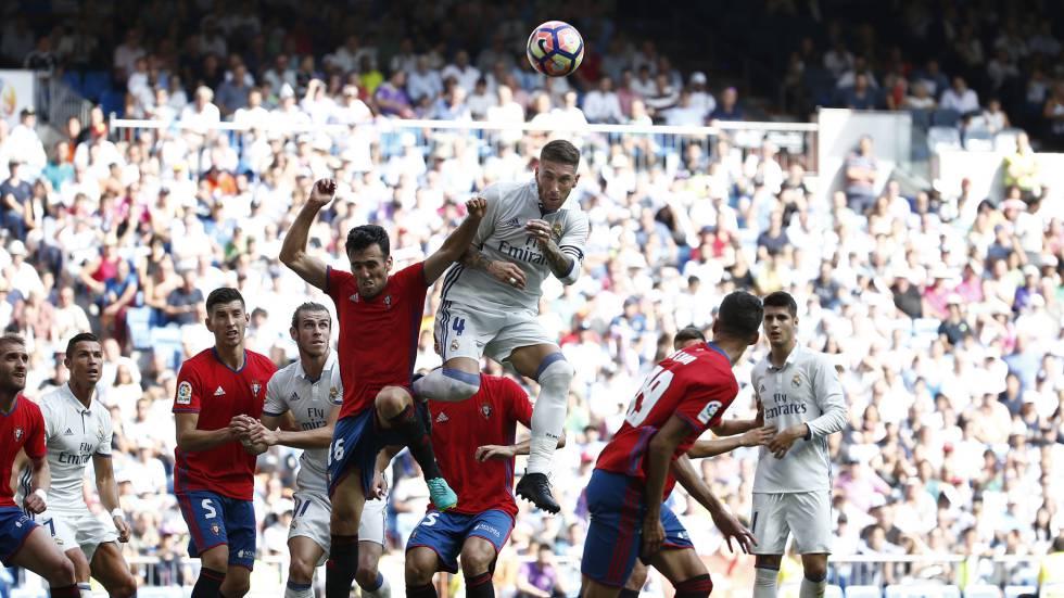Sergio Ramos, no jogo diante do Osasuna.