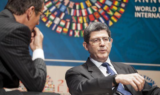 O ministro de Fazenda do Brasil, Joaquim Levy, na quinta-feira em Lima (Peru).