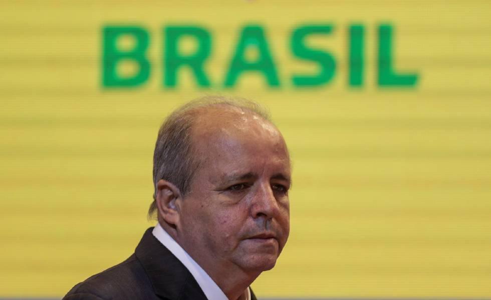 O treinador Vadão antes de anunciar a convocação do Brasil para a Copa.