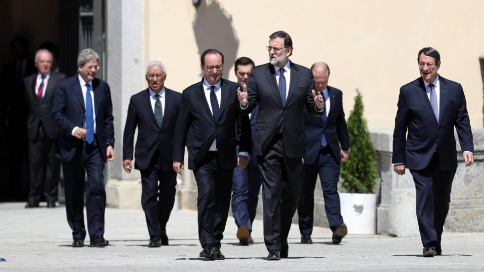 Líderes dos países do sul da Europa