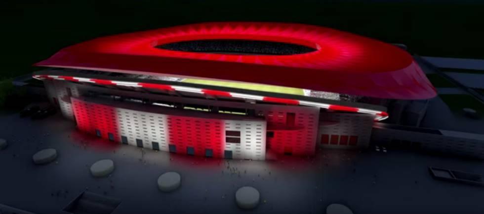 Imagem em 3D do estádio La Peineta.