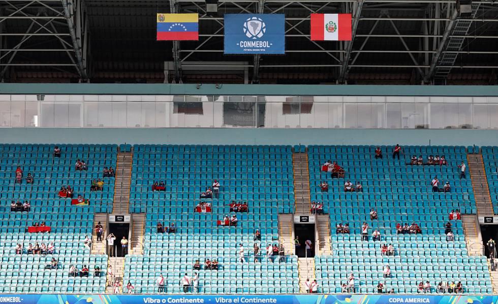 Jogo entre Peru e Venezuela teve o menor público da Copa América até aqui.