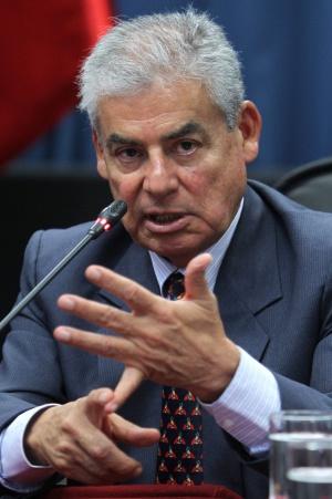 César Villanueva em uma coletiva de imprensa em dezembro.