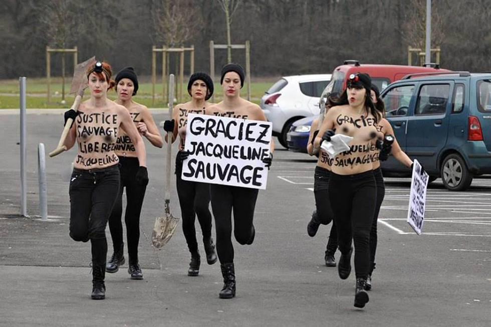 Ativistas do Femen exigem indulto a Jacqueline Sauvage em janeiro