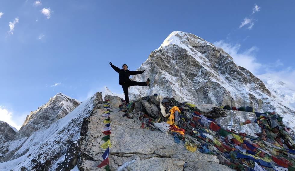 Ayesha foi a brasileira mais nova a chegar ao cume do Everest.