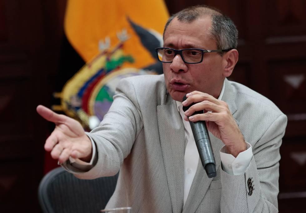 O vice-presidente de Equador, Jorge Glas, nesta sexta-feira.