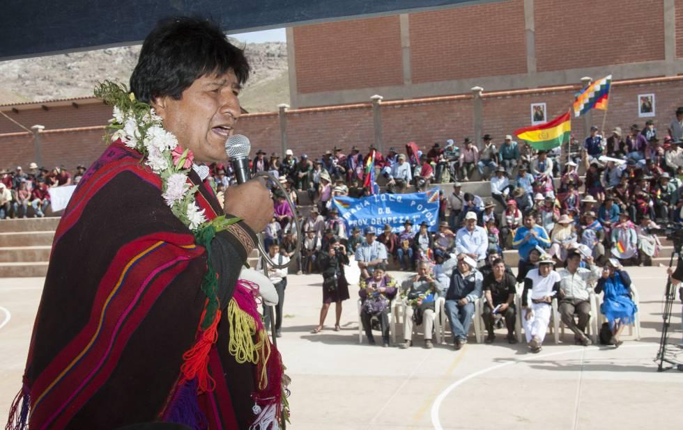 O presidente boliviano, Evo Morales, em Chuquisaca em 19 de maio.