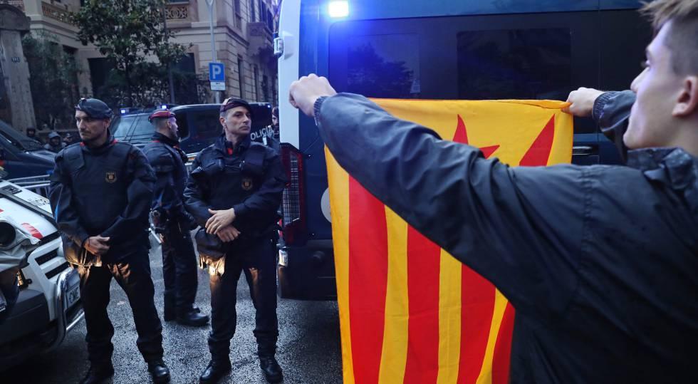 Manifestantes na Catalunha no último dia 19.