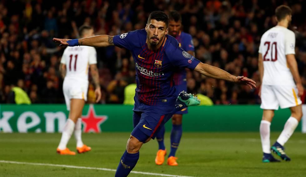 Suárez quebrou seu jejum nesta Champions League ao marcar o quarto gol.