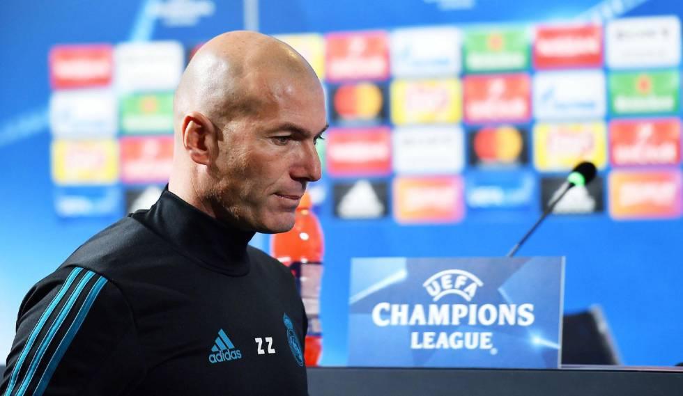 Zidane, treinador do Real Madrid, em coletiva antes do jogo em Turim.