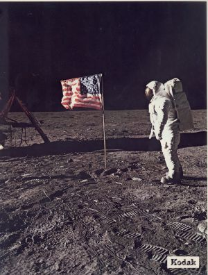 O astronauta Buzz Aldrin na Lua, em 1967.