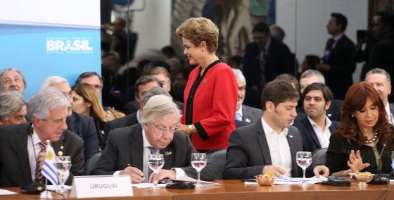Rousseff, na cúpula de Chefes de Estado do Mercosul, em julho.