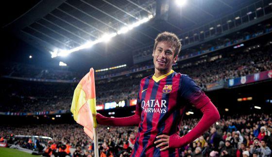 Neymar, depois de marcar contra o Villarreal.