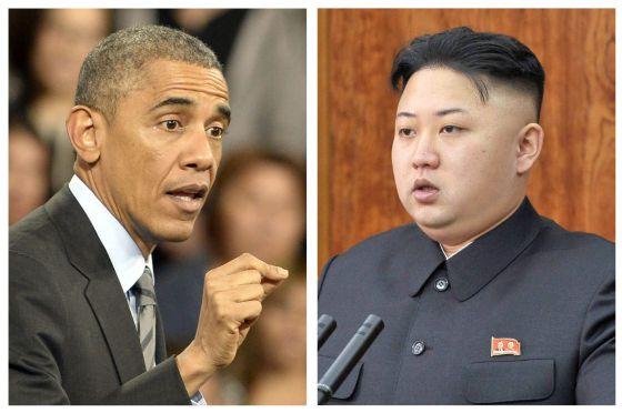 Obama em Las Vegas e Kim Jong-un em seu discurso de Ano Novo