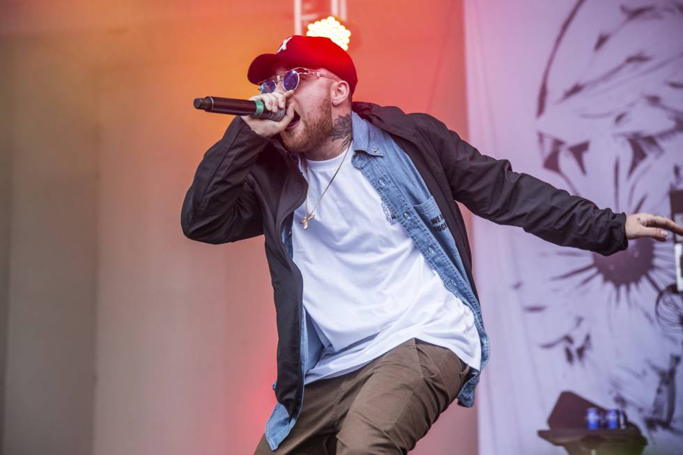 Mac Miller em um show em 2016