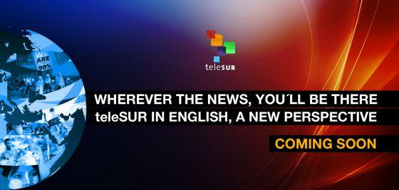 Página web da Telesur em inglês.
