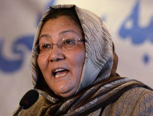 A candidata a vice-presidenta Habiba Sarabi em Cabul.