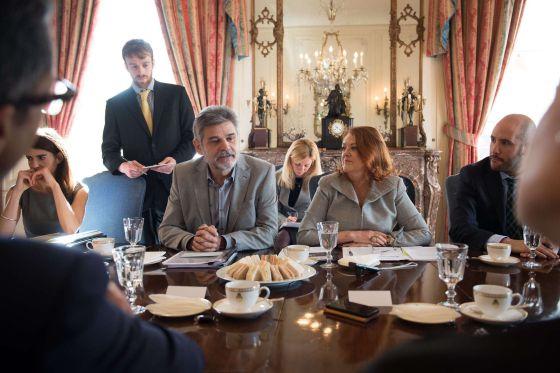 O ministro argentino para as Malvinas, Daniel Filmus, em Londres.
