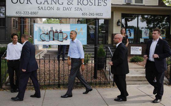 O presidente Barack Obama, que na quinta-feira visitou Saint Paul, capital de Minnesota, quer coordenar com a UE as sanções à Rússia.