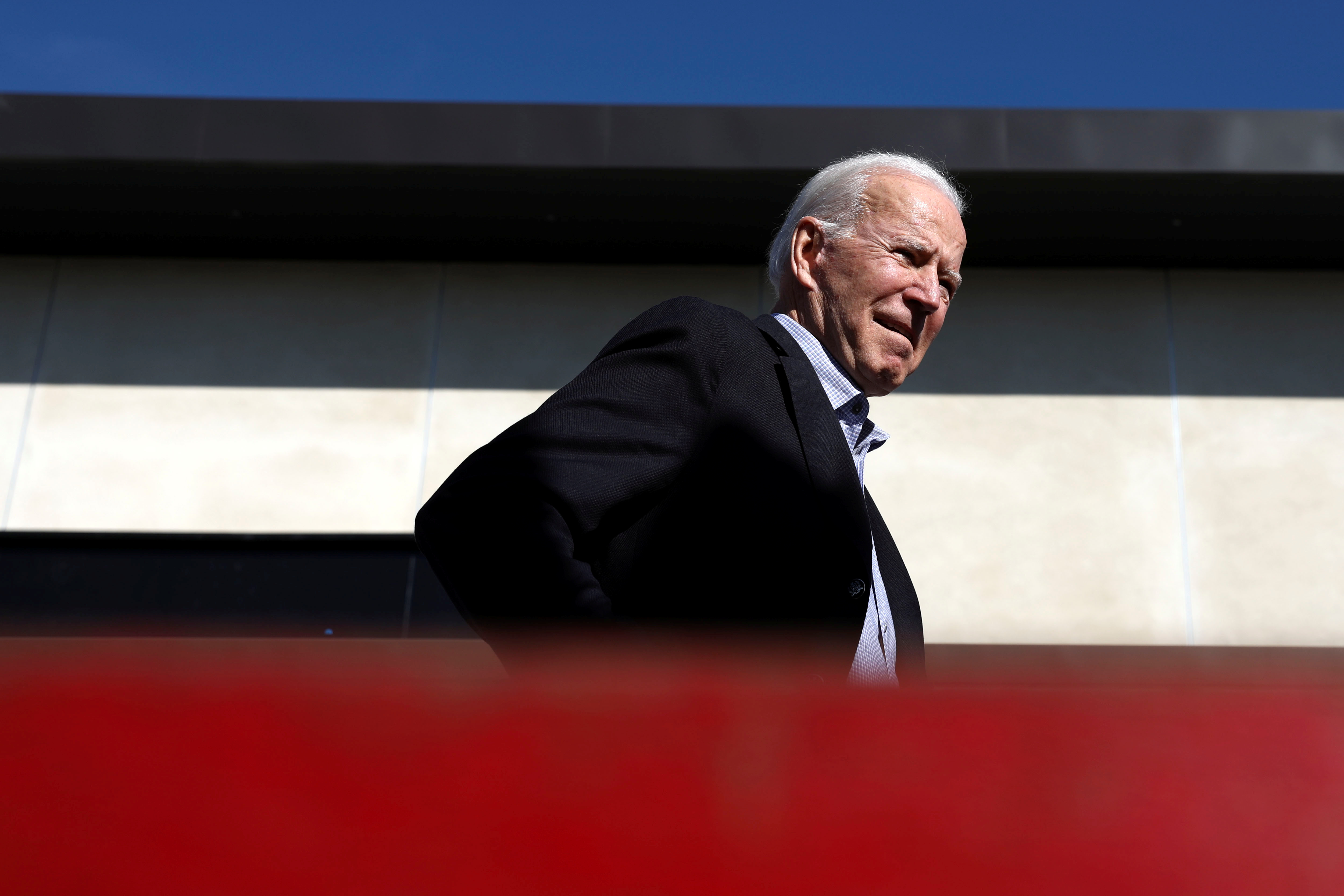 O ex-vice-presidente Biden, em Los Angeles.