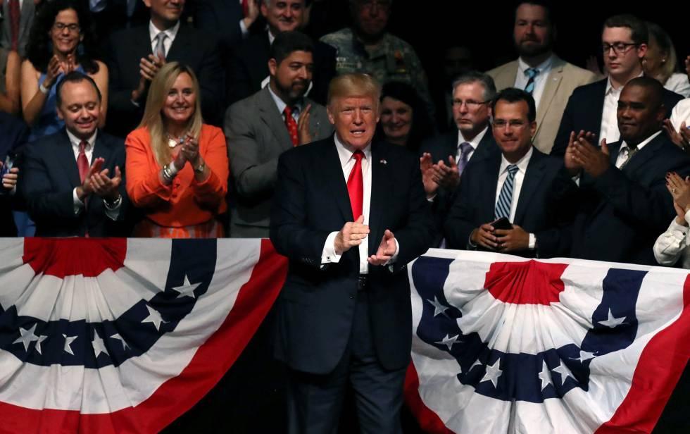 Donald Trump, durante o discurso em que anunciou a mudança de política em relação a Cuba.