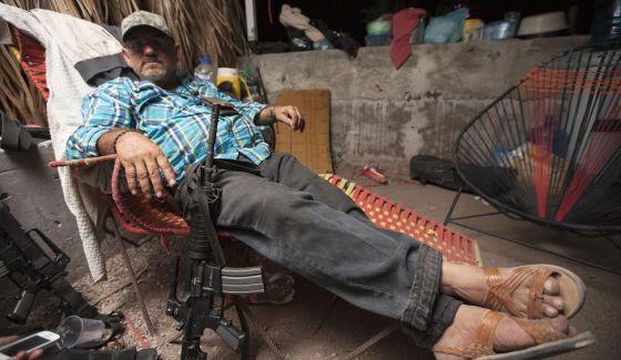 Hipólito Mora em La Ruana, Michoacán (México), dezembro de 2014.