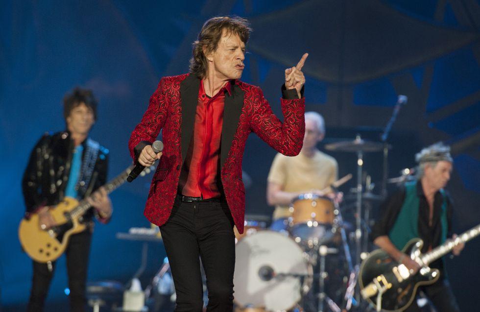 Os Rolling Stones durante show em Indianápolis.